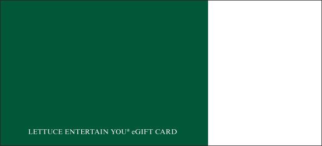 Lettuce Entertain You eGift Cards from CashStar