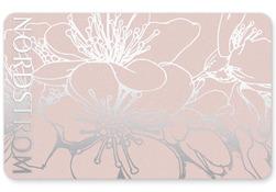 Plastic - Silver Floral