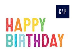 Gap- Happy birthday 2017