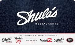 Shula's Restaurants Gift Card
